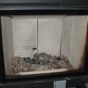 При высокой температуре футеровка самоочищается. Топка Austroflamm